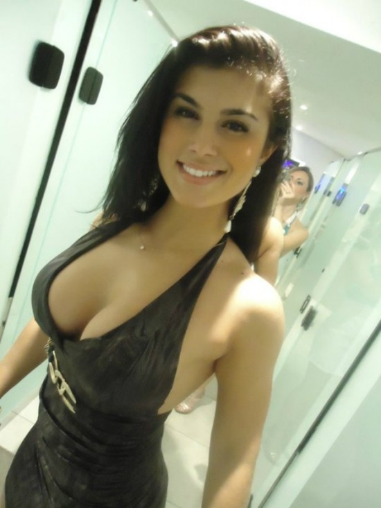 Beautiful busty girl showing her amazing rack