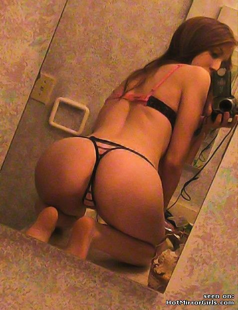 me taking a picture of my big booty in mirror
